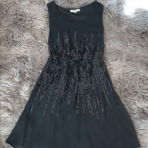 Little black dress with sequin detail